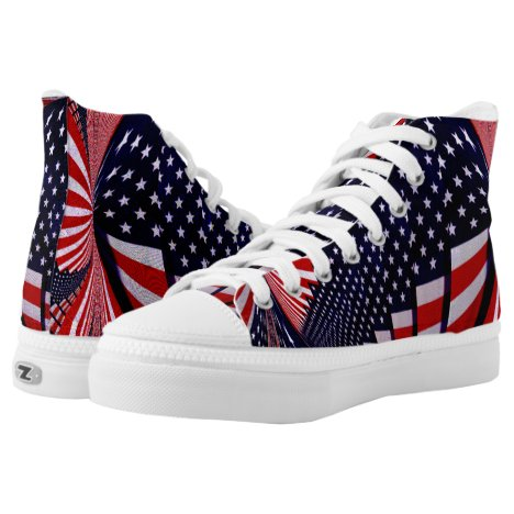 USA,I'm Proud_ High-Top Sneakers