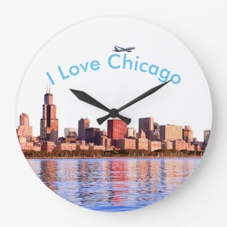 USA image for Round Large Wall Clock