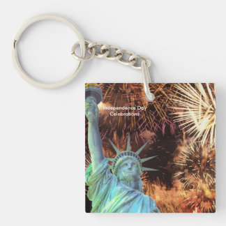 USA Image for Square-Key-chain (double sided) Double-Sided Square Acrylic Keychain
