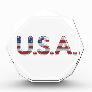USA in chrome lettering Awards