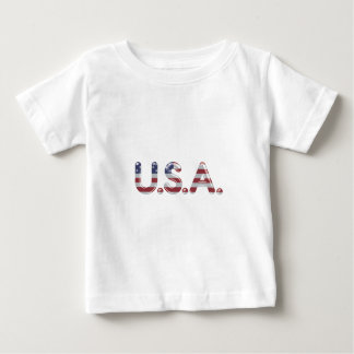 USA in chrome lettering Baby T-Shirt