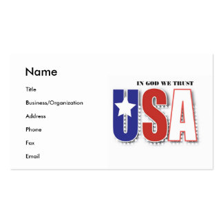 "USA ""In God We Trust"" Business/Personal Card"