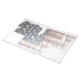 July 4th Independence Day Cloth Placemat