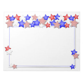 USA Independence Day Patriotic Stars American Notepad
