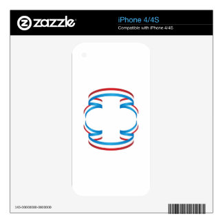 USA Independence Day Ribbon Banner iPhone 4 Decal