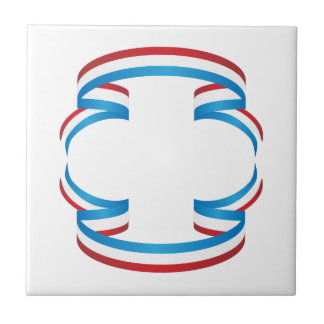 USA Independence Day Ribbon Banner Tile