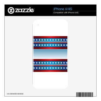 USA Independence Day Stars and Stripes Background iPhone 4S Skins