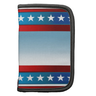 USA Independence Day Stars and Stripes Background Folio Planner