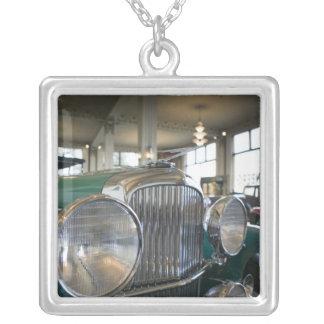 USA, Indiana, Auburn: Auburn, Cord, Duesenberg 14 Silver Plated Necklace