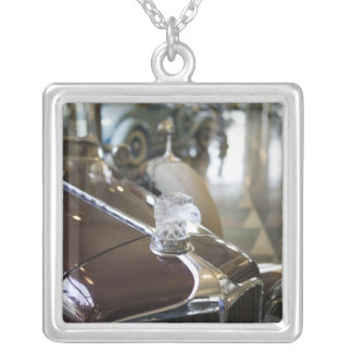USA, Indiana, Auburn: Auburn, Cord, Duesenberg 9 Silver Plated Necklace