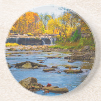 USA, Indiana. Cataract Falls State Recreation Drink Coaster