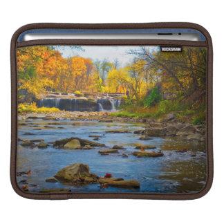 USA, Indiana. Cataract Falls State Recreation iPad Sleeve
