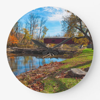 USA, Indiana, Cataract Falls State Recreation Large Clock