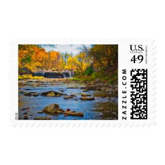 USA, Indiana. Cataract Falls State Recreation Postage