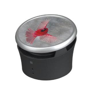 USA, Indiana, Indianapolis. A male cardinal Bluetooth Speaker