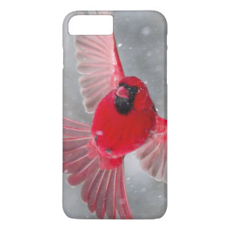 USA, Indiana, Indianapolis. A male cardinal iPhone 7 Plus Case