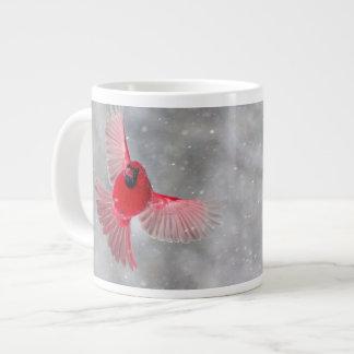 USA, Indiana, Indianapolis. A male cardinal Large Coffee Mug