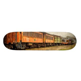 USA, Indiana. The North Mudson Railroad Museum Skateboard