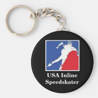 USA Inline Speedskater Keychain