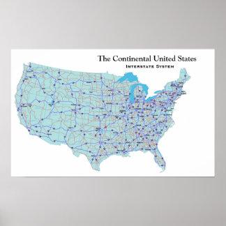 USA Interstate System Print