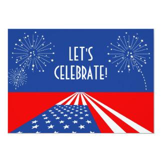 USA Invitation / American Flag Invitation - Custom