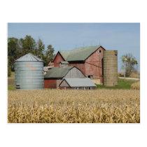 USA, IOWA, Froelich: Old farm Postcard