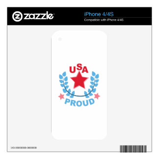 USA iPhone 4 DECALS