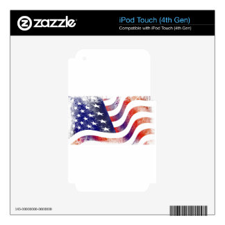 USA iPod TOUCH 4G DECAL