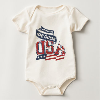USA Iraqi Freedom Baby Bodysuit