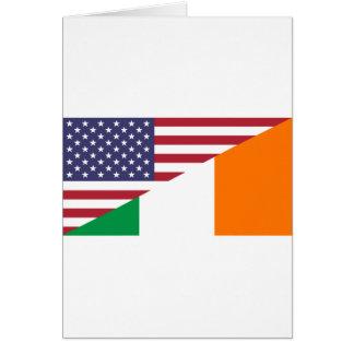 USA/Ireland Flag Card