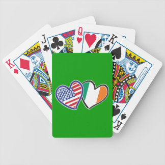 USA Ireland Heart Flags Bicycle Playing Cards