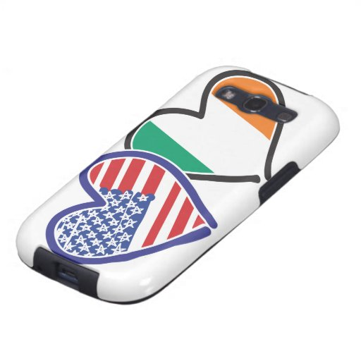 USA Ireland Heart Flags Samsung Galaxy SIII Cases