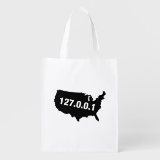 USA Is Home Programmer Grocery Bag