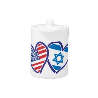 USA Israel Heart Flag