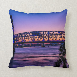 USA, Jacksonville, Florida Throw Pillow