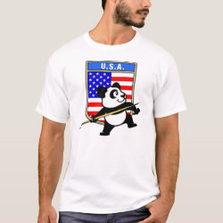 Men's Basic T-Shirt with USA Javelin Panda design