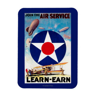 USA - Join the Air Service Learn-Earn Magnet