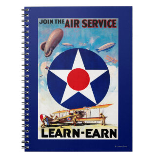 USA - Join the Air Service Learn-Earn Note Book