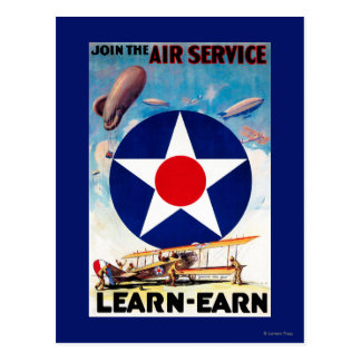 USA - Join the Air Service Learn-Earn Postcard
