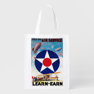 USA - Join the Air Service Learn-Earn Reusable Grocery Bag