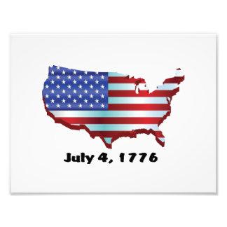 USA july 4 1776 Photo Print
