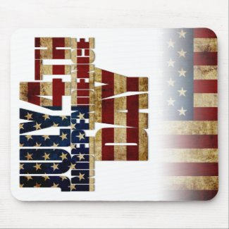 USA July 4th Independence Day Mouse Pad