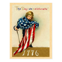USA July 4th Postcard