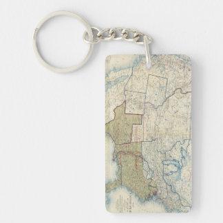USA June 1861 Double-Sided Rectangular Acrylic Keychain