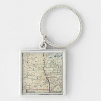 USA June 1862 Silver-Colored Square Keychain