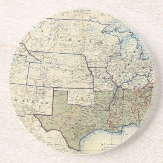 USA June 1864 Beverage Coasters