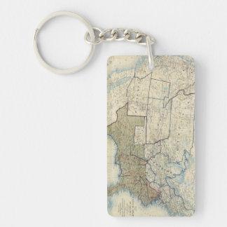 USA June 1864 Double-Sided Rectangular Acrylic Keychain