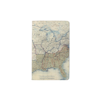 USA June 1864 Pocket Moleskine Notebook Cover With Notebook