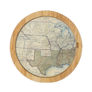 USA June 1864 Round Cheese Board