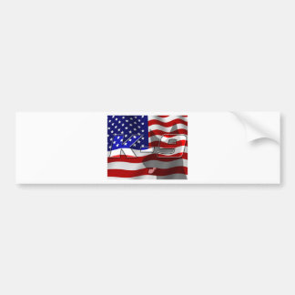 USA K9 Design Bumper Sticker